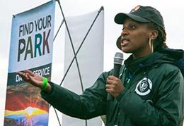 Aurelia Casey at 2016 MLK Day