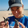 Rachel Snodgrass and baby turtles