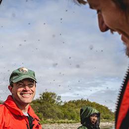 Buzzing mosquitos at Katmai