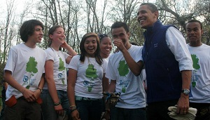 Barack Obama with SCA Volunteers